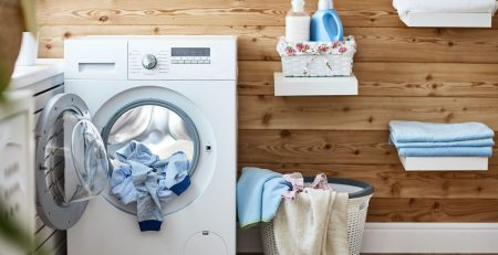 Laundry in Washing Machine - Vick's Cleaners